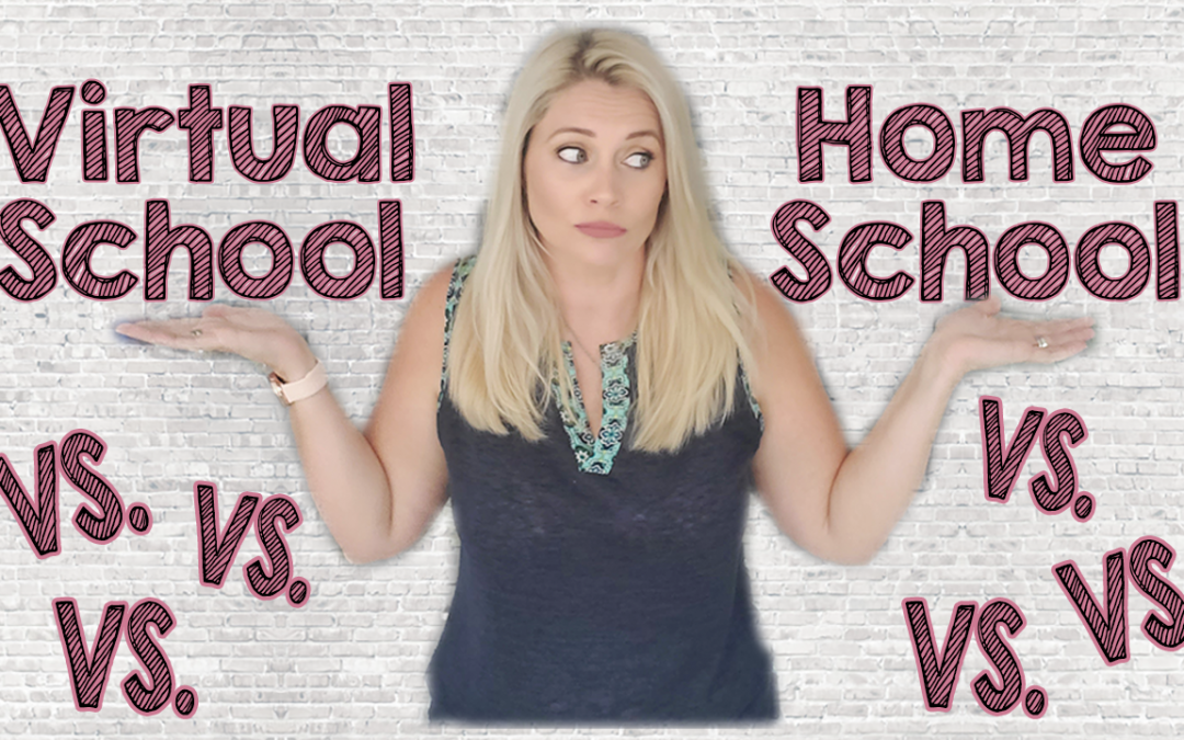 Similar But Different Virtual School VS Homeschool